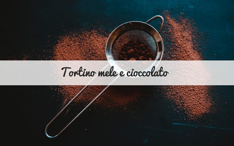 Tortino mele e cioccolato