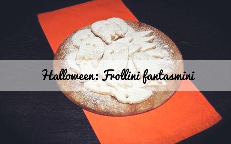 Frollini fantasmini: biscotti a tema Halloween