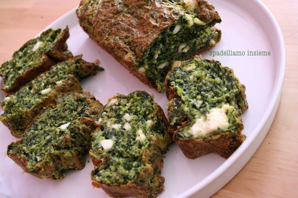 Plumcake verde con erbe aromatiche