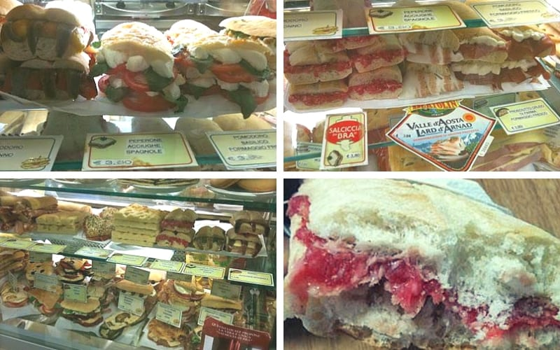 Bar Rio Colorè, Autostrada Torino-Savona, un panino speciale!