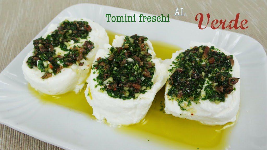 Tomini freschi al verde elettrici, ricetta regionale piemontese