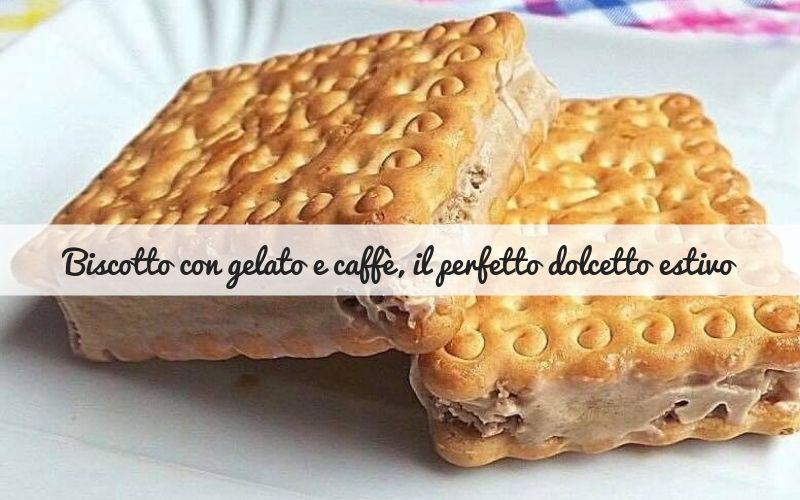 Biscotto con gelato al caffè, un dolcetto estivo facile e goloso!