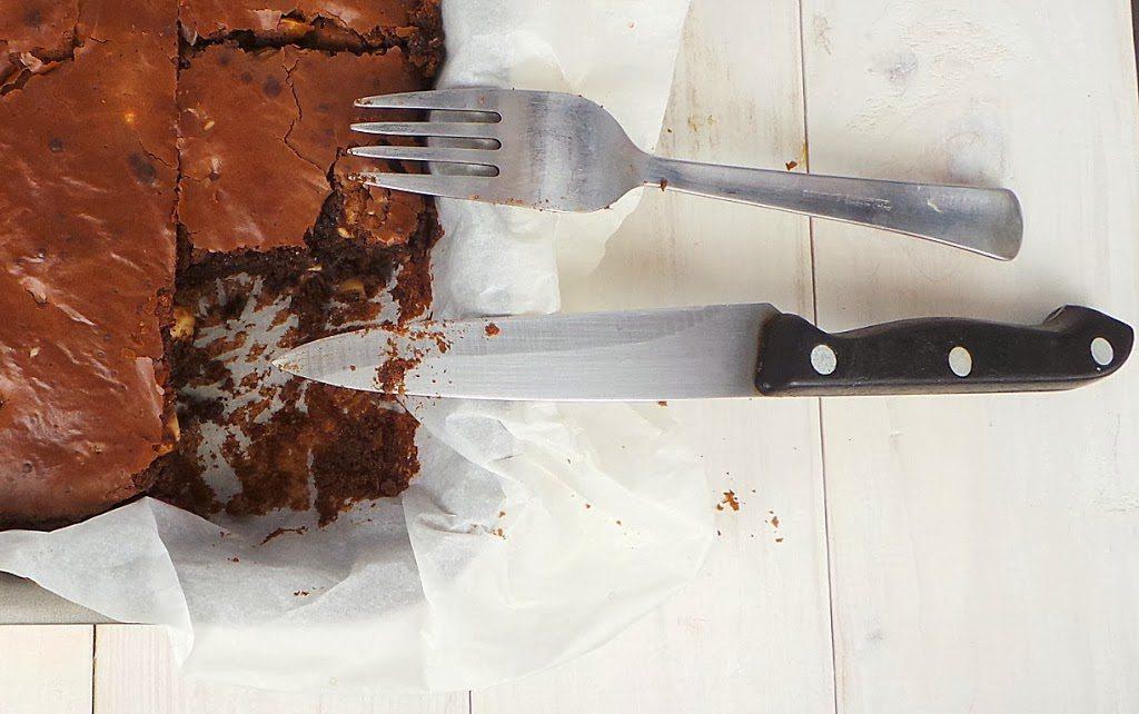Il mio finto brownies, senza burro e senza noci pecan, ma buonissimo!