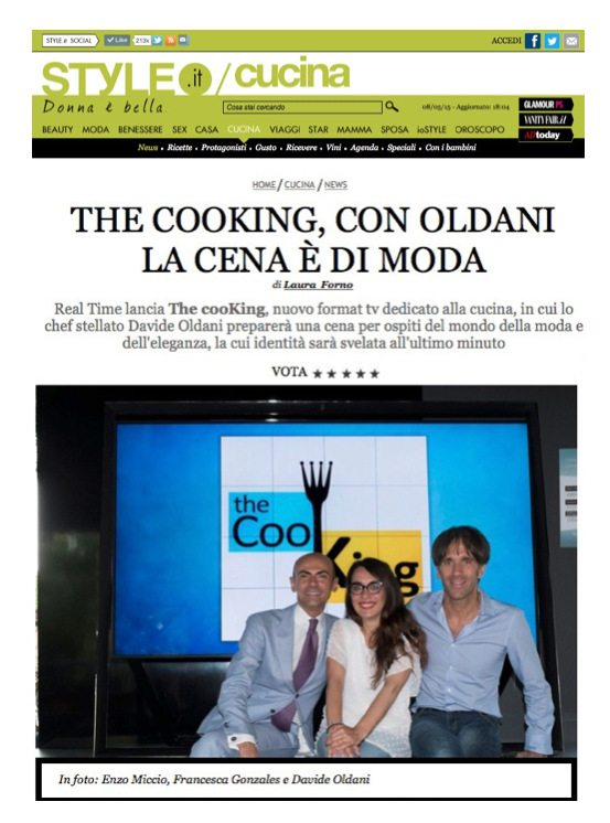 The Cooking con Davide Oldani