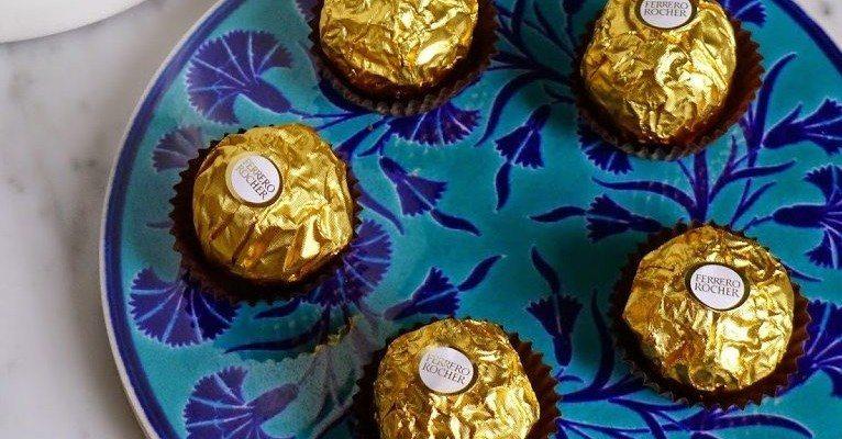 Decorazioni con Ferrero Rocher per la casa e la tavola