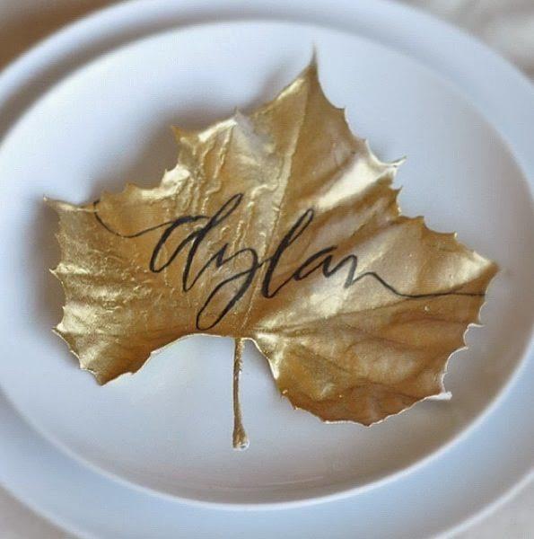 tavolo autunno foglia