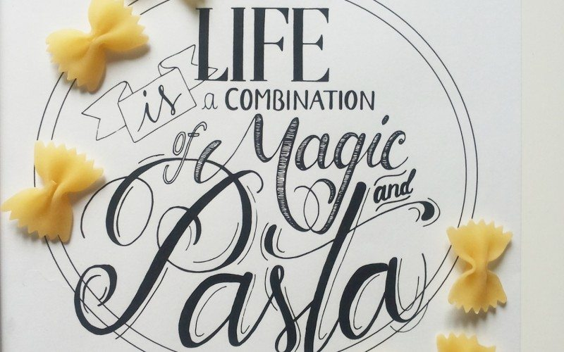 Hand lettering food: Maria Chiara e l'arte della bella grafia