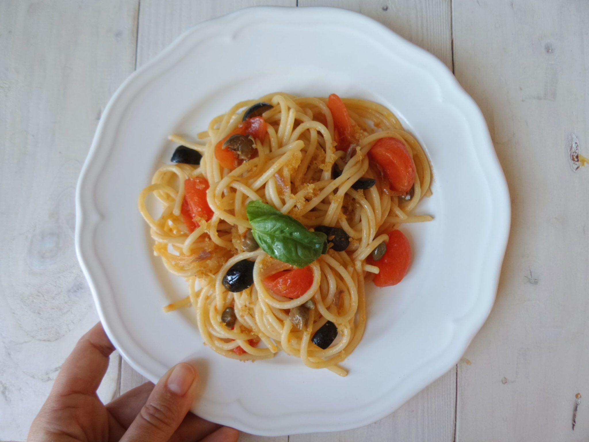 spaghett alla pantesca zucchi alto