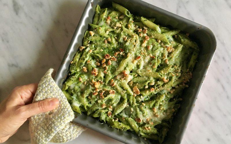 Pesto di cavolo nero con pasta kamut® gratinata al forno