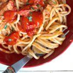 Per me lestate  piatto di spaghetti con il tonnohellip