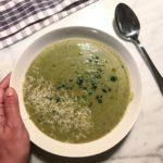 Stasera una crema di broccoli saporita e cremosa con prezzemolohellip