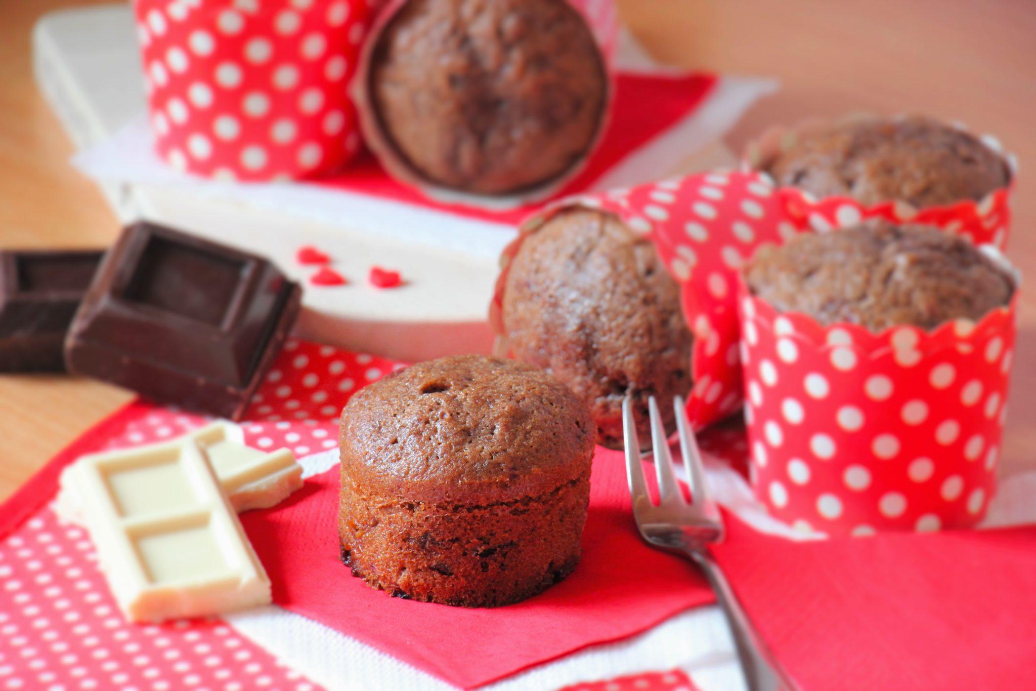 muffin al cioccolato e lamponi _spadelliamo