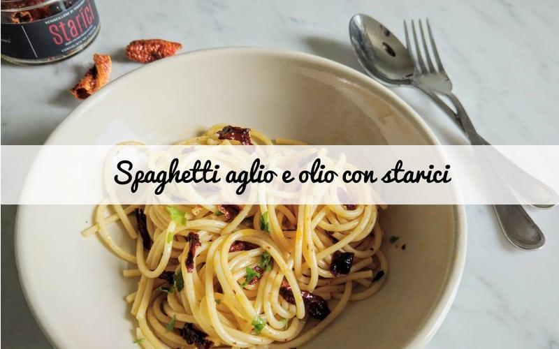 Spaghetti aglio e olio con peperone sciuscillone di Teggiano