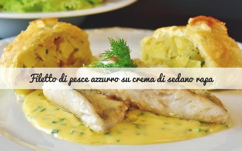 filetto di pesce azzurro su crema di sedano rapa_Spadelliamo